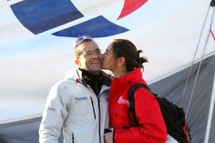 Aleix y Natalia antes de zarpar! Buena proa!! BWR 2014/15