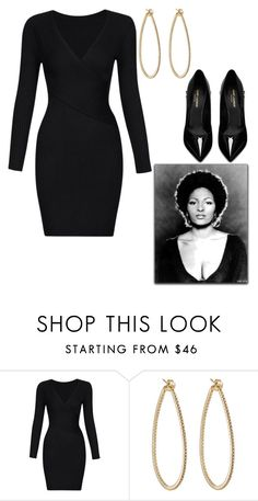 """Pam Grier"" by tamsinhartnell ❤ liked on Polyvore featuring PAM, Sidney Garber and Yves Saint Laurent"