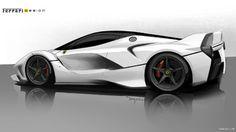 2015 Ferrari FXX K - Design Sketch - Image # 21