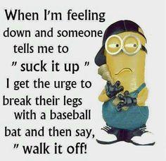 Today Top 61 lol Minions AM, Sunday February 2017 PST) - 61 pics - Minion Quotes Funny Minion Pictures, Funny Minion Memes, Minions Quotes, Funny Texts, Funny Jokes, Hilarious, Funny Cartoons, Minion Sayings, Minion Humor
