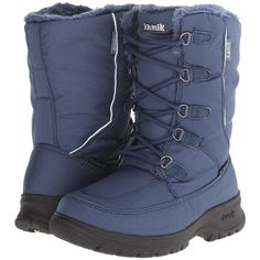 Kamik Brooklyn Women's Cold Weather Boots, Blue ($45) ❤ liked on Polyvore featuring shoes, boots, blue, blue boots, kamik boots, blue ankle boots, bootie shoes and fleece lined boots