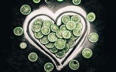 Lataa kuva 4k, limes, sokeria, hedelmät, sydän