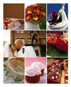 USC College Themed Wedding | Wedding Paper Divas