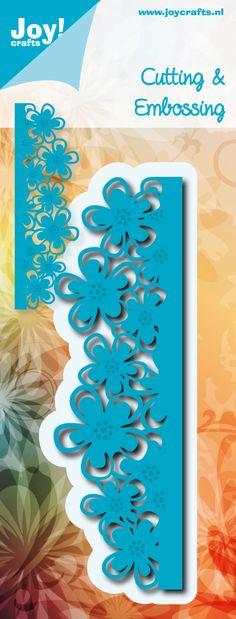 6002/0476 Noor! Design Blauw Border Bloemenrand