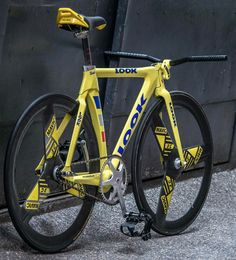 Look Fixed Gear Bicycle with Mavic three spoke wheels