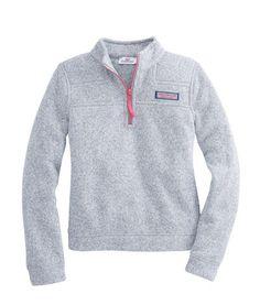 vineyard vines : Girls Sweater Fleece Shep Shirt
