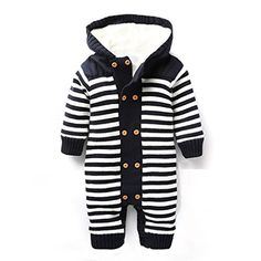 IDGIRL Winter Soft Baby Hooded knit romper outfit JY0138-Black-60cm