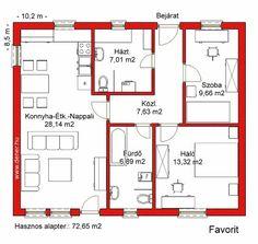 Olcsó könnyűszerkezetes 72 négyzetméteres családi ház: Favorit 72