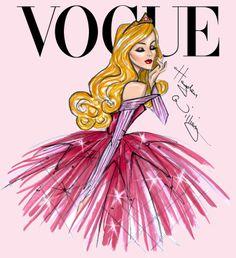 #Hayden Williams Fashion Illustrations #Disney Divas for Vogue by Hayden Williams: Aurora