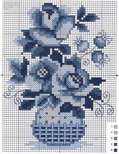 Cross Stitch Heart, Cross Stitch Flowers, Modern Cross Stitch, Cross Stitch Designs, Cross Stitch Patterns, Delft, Cross Stitching, Cross Stitch Embroidery, Needlework