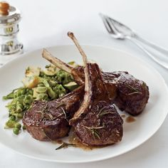 Chef Way A rosemary-mint sauce tops the lamb chops.  Easy Way Skip the sauce for the lamb chops; instead, rub rosemary onto the chops before they're...
