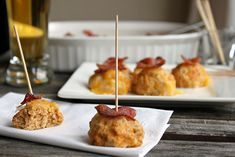 Buffalo Ranch Chicken Cheese Bites with Crispy Bacon