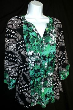 Style & Co Casual Short Sleeve Womens Tunic Top Blouse  Size M #Styleco #Tunic #Casual