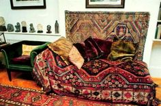 Freud's Famous Couch Rich Home, New Condo, Sigmund Freud, Couch, Carpet Styles, Sofa Throw, Rugs On Carpet, Carpets, Cabinet