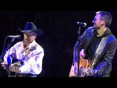 "George Strait and Eric Church in Kansas City ""Easy Come, Easy Go"""