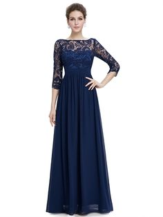 7125d9fe1d58 Lace Short Sleeves V Back Sheath Floor Length Chiffon Long Prom Dress Lace Evening  Dresses