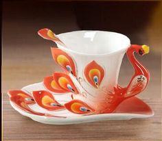 New Enamel Coffee Mug Porcelain Tea Milk Cup Set Creative Ceramic Drinkware European Bone China