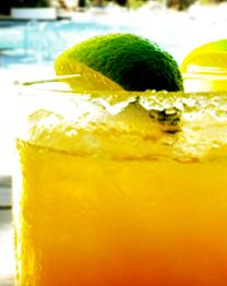 Kumquat Margaritas - all natural and made with #Sauza Blue 100% Agave Tequila for a #fresh and #fit new year!