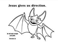 bat coloring page - Bing images | Exploring God\'s Word - Sunday ...
