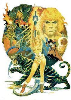 ilustraciones de Esteban Maroto - He-Man