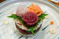 Présentation de sashimis