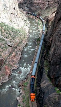 Royal Gorge Railroad - we took the dinner train ride during Octoberfest and had delicious German food, great service, good travel companions and gorgeous views. The train stops at the Royal Gorge bridge for fantastic photos. Train Rides In Colorado, Scenic Train Rides, Oh The Places You'll Go, Places To Travel, Places To Visit, U Bahn Station, Train Miniature, Royal Gorge, Pikes Peak