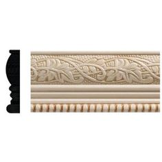 Ornamental Mouldings 1825 in. x 96 in. White Hardwood Embossed Ivy/Bead Trim Chair Rail Moulding at The Home Depot - Mobile Chair Rail Molding, Panel Moulding, Dentil Moulding, Moldings, Ornamental Mouldings, Decorative Mouldings, Wall Trim, Ceiling Trim, Stylish Chairs
