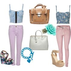 Pastel and Bralet tops Mix and Match, created by desiree-mendoza on Polyvore