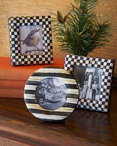 Courtly+Check+Frame+Gift+Set+by+MacKenzie-Childs+at+Neiman+Marcus. Needs these for my office.