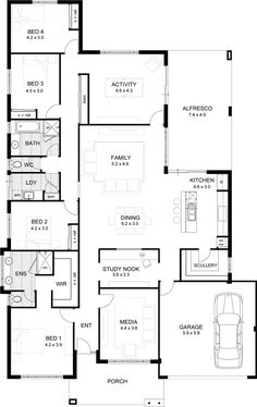 Casuarina 295 our designs new south wales builder gj for Sewing room floor plans