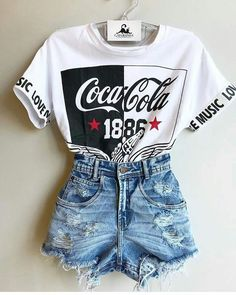 Super cute for an kinda edgy look. Shorts are probably a bit too ripped Super cute for an kinda edgy look. Shorts are probably a bit too ripped,Mode Super cute for an kinda edgy look. Shorts are probably a bit too ripped Like: Teenage Outfits, Summer Fashion Outfits, Outfits For Teens, Girl Outfits, Fashion Fashion, Fashion Ideas, Womens Fashion, Fashion 2018, Formal Outfit For Teens