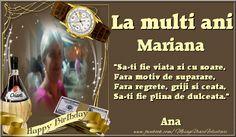 Personalizare felicitari de zi de nastere | La multi ani Mariana Ana