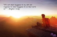 """It's not what happe"