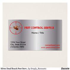 Silver Dead Roach Pest Service 1 Sided
