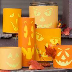 La decoración de Halloween puede ser más segura, si pones una linterna dentro de los diseños :)