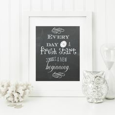"Instant ""Fresh Start"" Chalkboard Digital Wall Art Print  8x10 Modern Christian Art, Scripture Print, Digital Download by hbixler03 on Etsy"