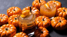 Smooth pumpkin gets shaken up with cinnamon syrup and aged rum for the spiced cocktail you're going to be drinking all season long. Thanksgiving necessities: turkey an plenty of booze! Ginger Cocktails, Rum Cocktail Recipes, Holiday Cocktails, Pumpkin Cocktail, Aged Rum, It's The Great Pumpkin, Pumpkin Butter, Pumpkin Juice, Alcohol Recipes
