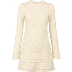 See By Chloe Long Sleeved Lace Dress (1,210 PEN) ❤ liked on Polyvore featuring dresses, long-sleeve shift dresses, pink long sleeve dress, long sleeve shift dress, straight dress and longsleeve dress