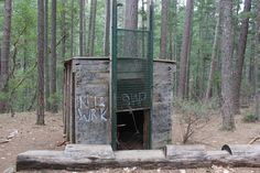 The Bigfoot Trap – Jacksonville, Oregon - Atlas Obscura                                     Nestled in the woods of the Rogue River-Siskiyou National Forest lies a Bigfoot trap, the only one of its kind in the United States. It was built in 1974 by the (now-defunct) North American Wildlife Research Team, after a local miner claimed to see 18-inch footprints similar in shape to human feet.