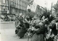 Hotel Der Fürstenhof mit Blumenfrauen vom Potsdamer Platz (Olympiade 1936)