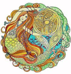 Schottische Meerjungfrau von Carrick  Ein signierten Druck aus einer original-Gemälde von Ruthie Redden mit begleitenden Meerjungfrau Folklore.  In der schottischen Mythologie wird eine Meerjungfrau ist ein Ceasg, sie Sie drei Wünsche gewähren, wenn Sie erwischen.  Im gälischen Meerjungfrau ist Maighdean Na Tuinne (Maid of die Welle)  Inspiriert durch die düsteren, abends Spaziergänge entlang der ruhigen Carrick, Kirkcudbrightshire, Schottland, wo bist du Ach so leise hören kann die…