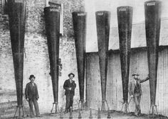 File:StateLibQld 2 65859 Battery of Stiger Vortex rain-making guns at Charleville, Old Photos, Vintage Photos, Go Pear Shaped, Beaufort Scale, Todays Weather, Royal Navy, Black And White Pictures, Archaeology, Fun Facts