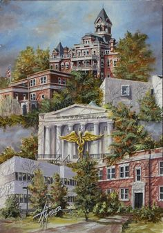 Anni Moller Prints & Original Paintings - Georgia Medical College Montage  Original Painting Available, email for more info rick@thegallery.us