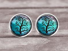 Ohrringe Lebensbaum 2 Turquoise12mm Schmuck von MaDGreenCreations
