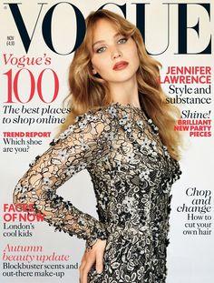 Jennifer Lawrence vestida con un Dolce & Gabbana para Vogue UK ver nota: http://scfashionmag.wordpress.com/2012/10/11/jennifer-lawrence-vestida-con-un-dolce-gabbana-para-vogue-uk/