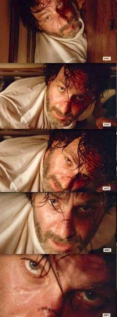 Rick Grimes doing what he does best. Eye fucking the viewer
