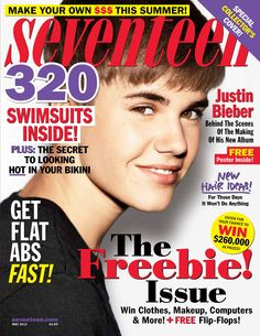Justin Bieber on Seventeen  #justinbieber #magazines #seventeen
