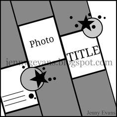 Jenny Evans layout sketch - Scrapbook.com