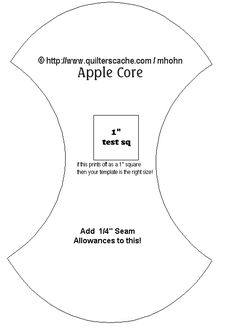 Apple Core Quilt Template Free Diy Quilts Quilts