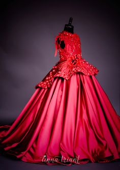 "Anna Triant Couture | Products | Flower Girl Dress | ""Scarlett"" Gown"